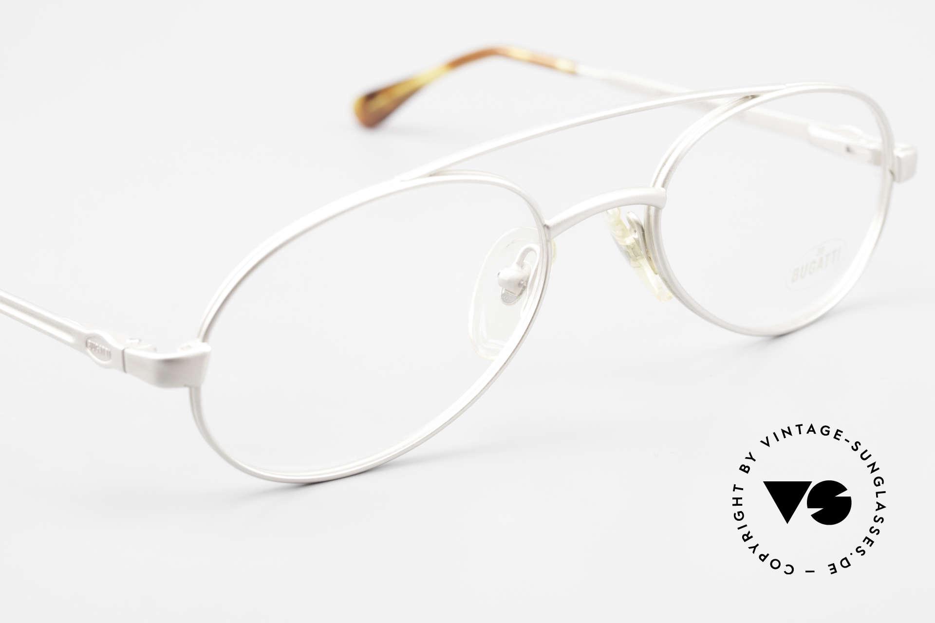 Bugatti 08105 Old Vintage Glasses 80's Men, NO RETRO frame, but a genuine eighties original, Made for Men