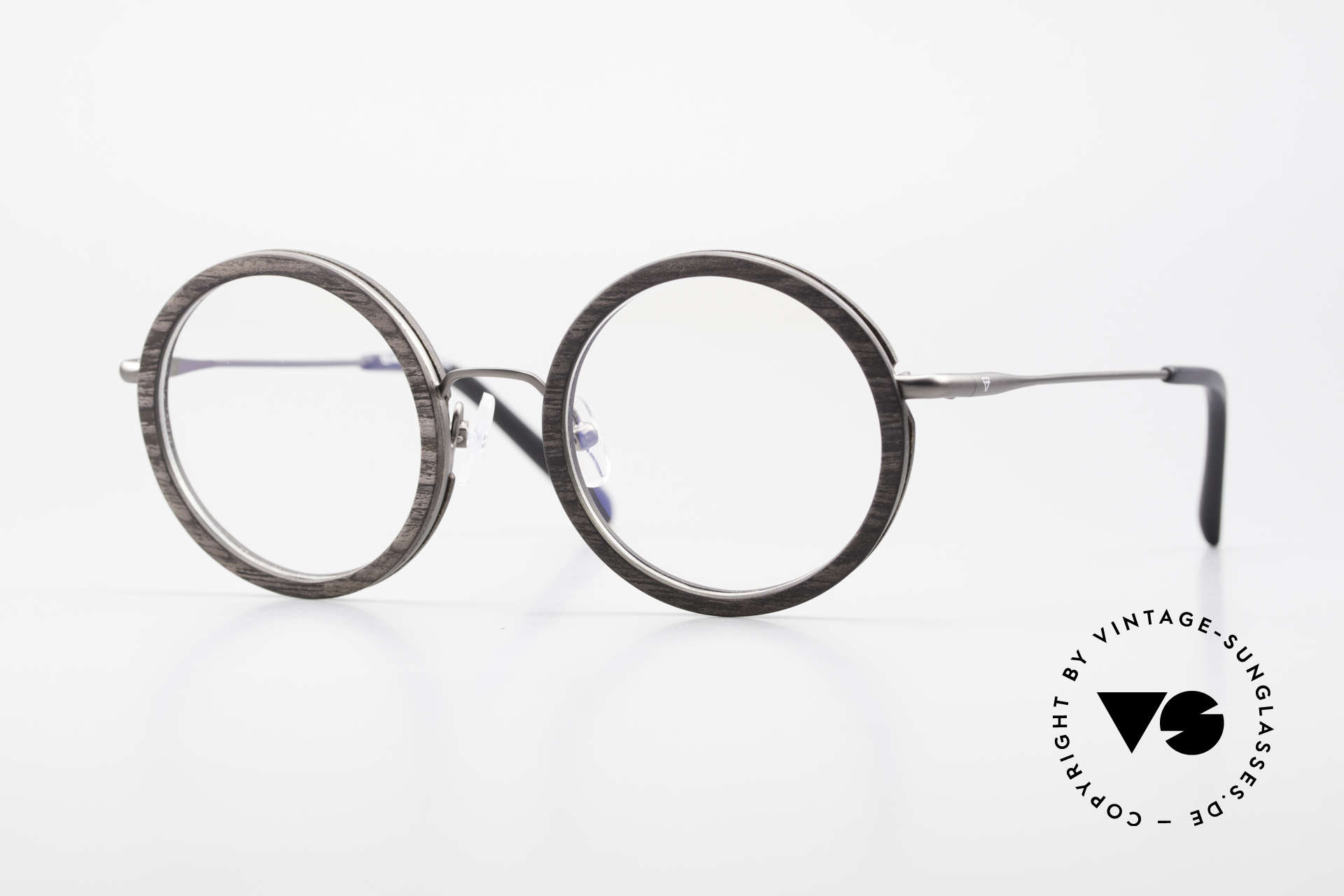 Kerbholz Rudolph Wood Frame Round Blackwood, round wood eyeglasses by Kerbholz, made in Germany, Made for Men and Women