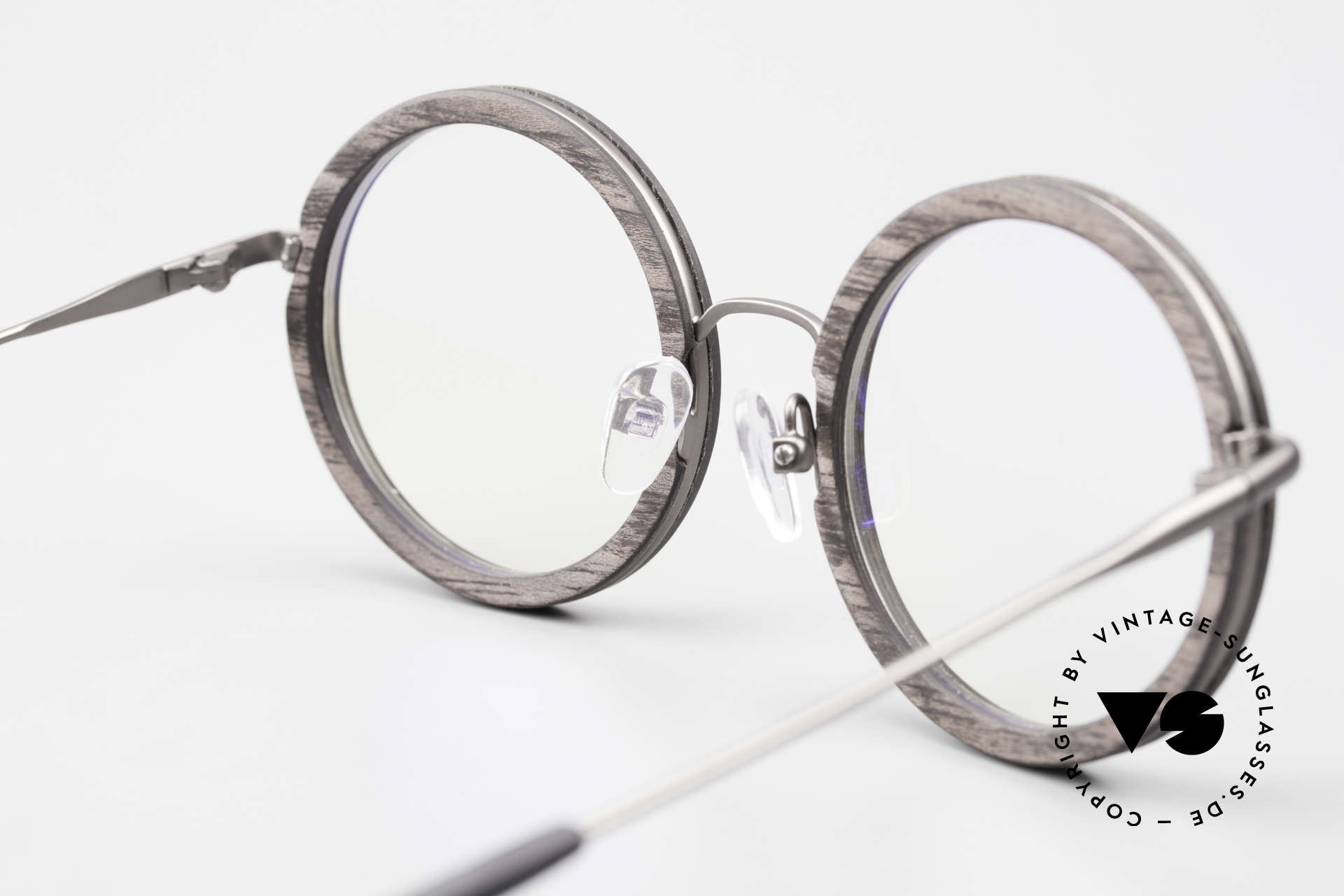 Kerbholz Rudolph Wood Frame Round Blackwood, unworn frame can be glazed with lenses of any kind, Made for Men and Women