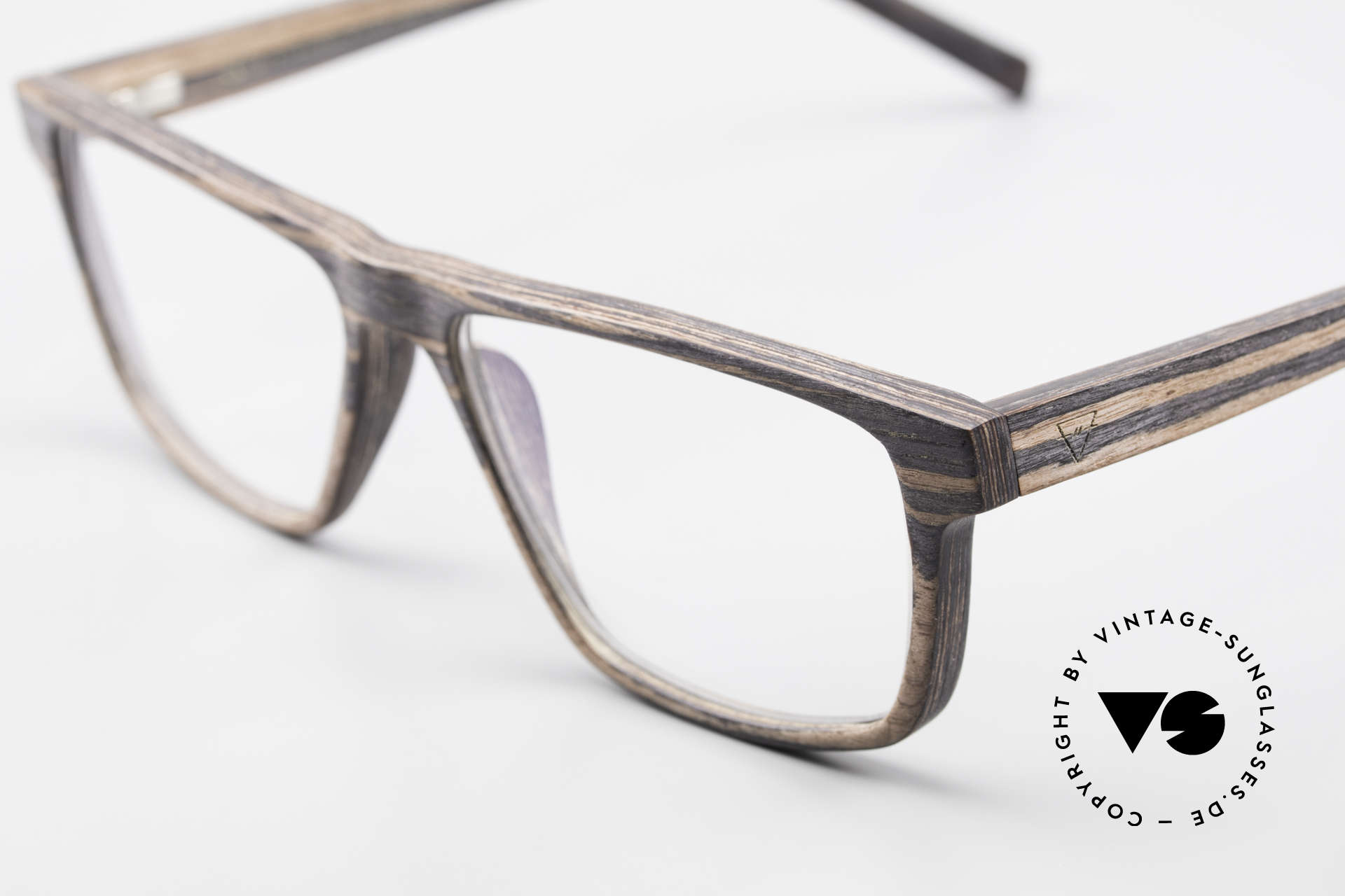 Kerbholz Nils Wood Frame Square For Men, a unique rarity (pure natural material, handmade), Made for Men