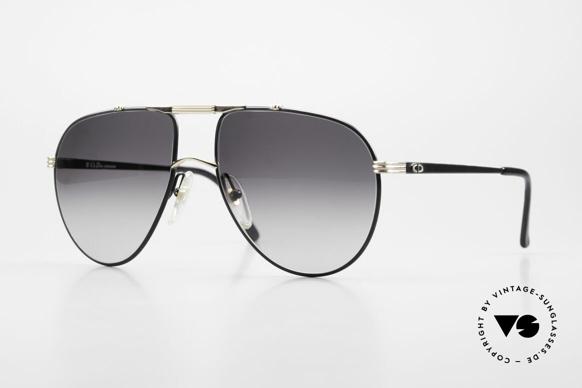 Christian Dior 2248 80's Aviator Large Sunglasses, old Christian Dior Monsieur sunglasses of the 1980's, Made for Men