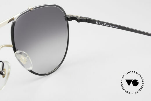 Christian Dior 2248 80's Aviator Large Sunglasses, gray-gradient CR39 sun lenses for 100% UV protection, Made for Men