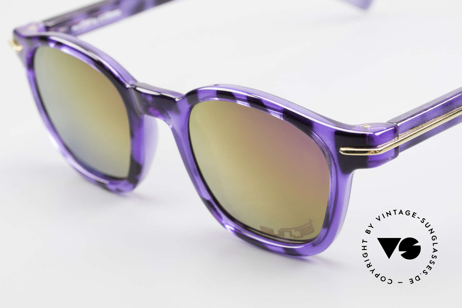 Carrera 5272 Tart Arnel Style James Dean, a classic frame design with a fancy purple-black pattern, Made for Men and Women