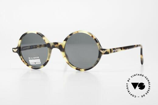 Giorgio Armani EA501 Round Vintage Sunglasses Details