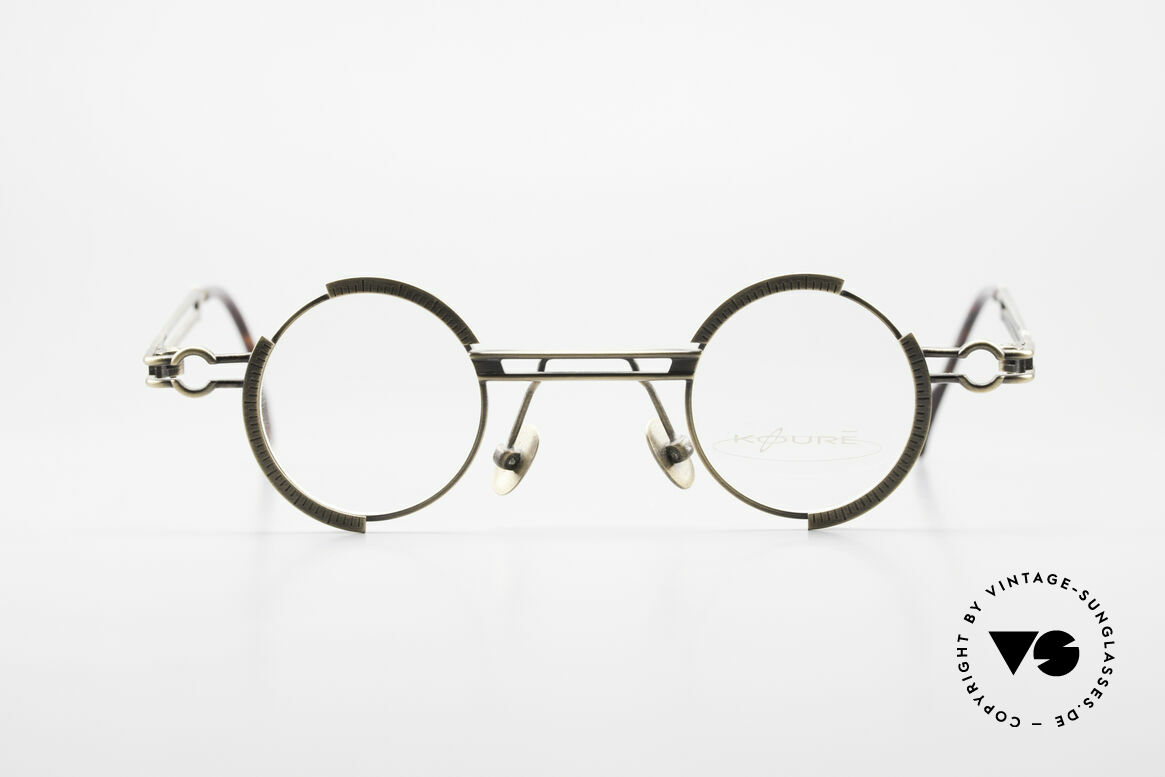 Koure KR8103 90's Glasses Round Steampunk, small but finely made eyewear-collection from South K., Made for Men and Women