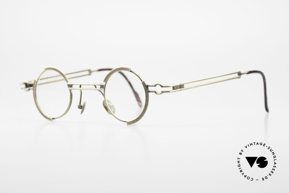 "Koure KR8103 90's Glasses Round Steampunk, many very interesting  ""retro-futuristic"" frame elements, Made for Men and Women"