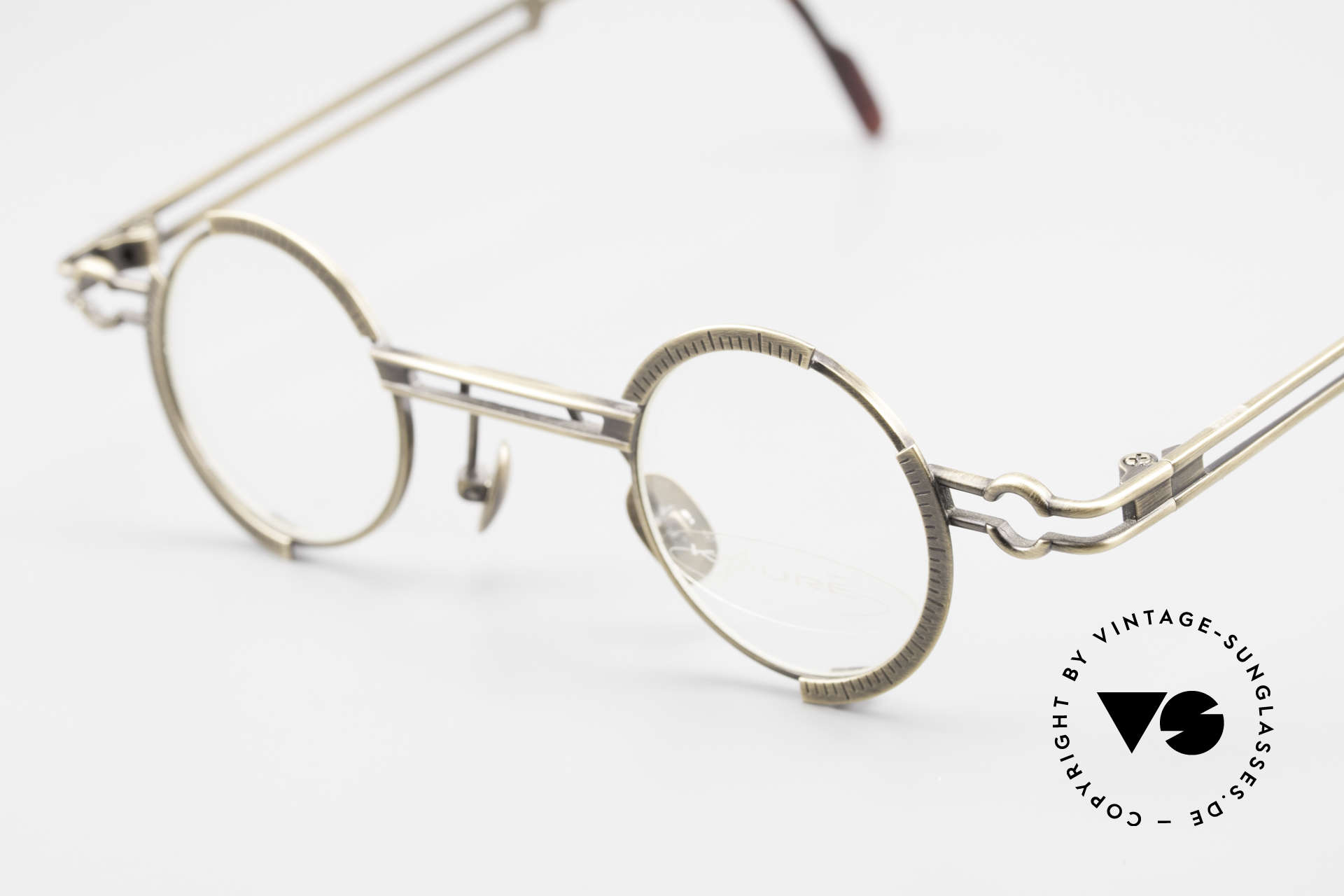 Koure KR8103 90's Glasses Round Steampunk, tangible TOP-NOTCH craftsmanship of all components, Made for Men and Women