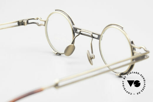 Koure KR8103 90's Glasses Round Steampunk, true vintage designer piece and NO RETRO reproduction, Made for Men and Women