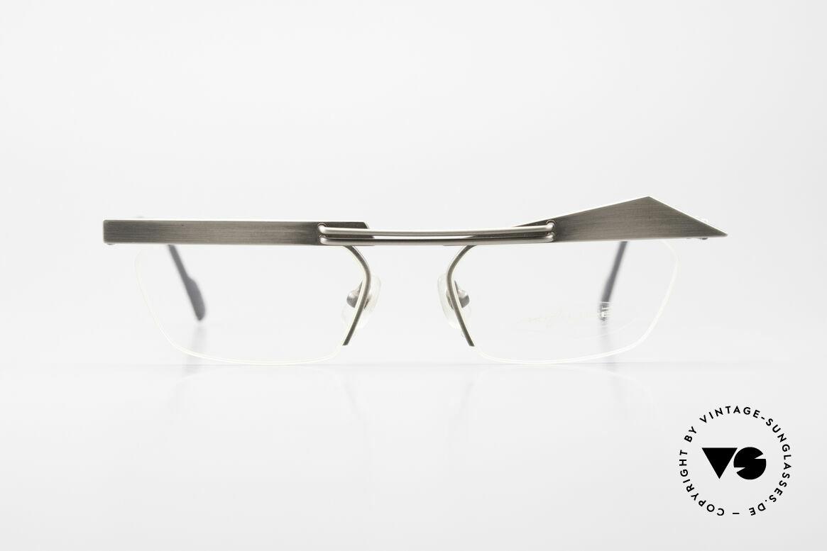 Koure KR8077 Designer Glasses Semi Rimless, KOURE glasses 8077, size 49/18, from 1994, Steampunk, Made for Women