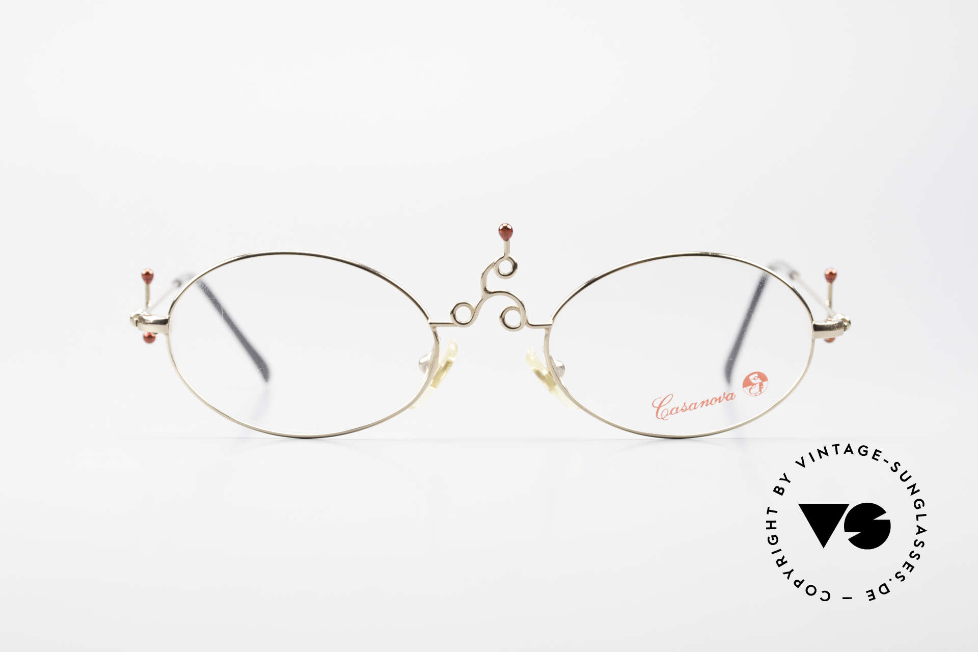 Casanova Arché 1 Art Glasses 80's Gold Plated, distinctive Venetian design in style of the 18th century, Made for Women