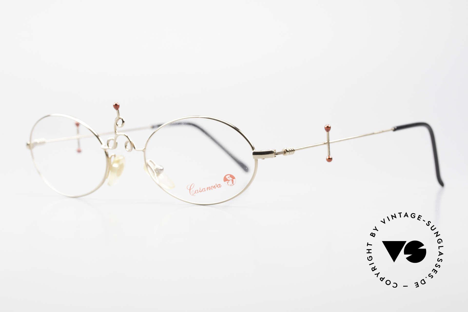 Casanova Arché 1 Art Glasses 80's Gold Plated, Arché Series = most precious creations by CASANOVA, Made for Women