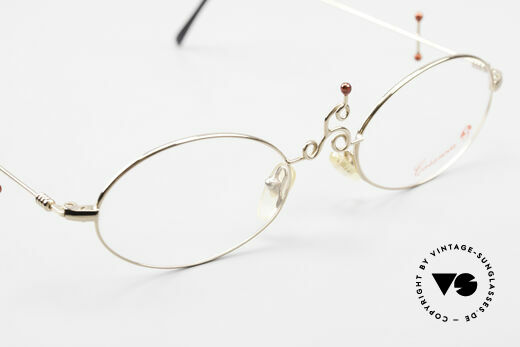 Casanova Arché 1 Art Glasses 80's Gold Plated, the metal frame can be glazed optionally (optical / sun), Made for Women
