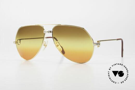 Cartier Vendome Santos - L Triple Gradient Desert Sun Details