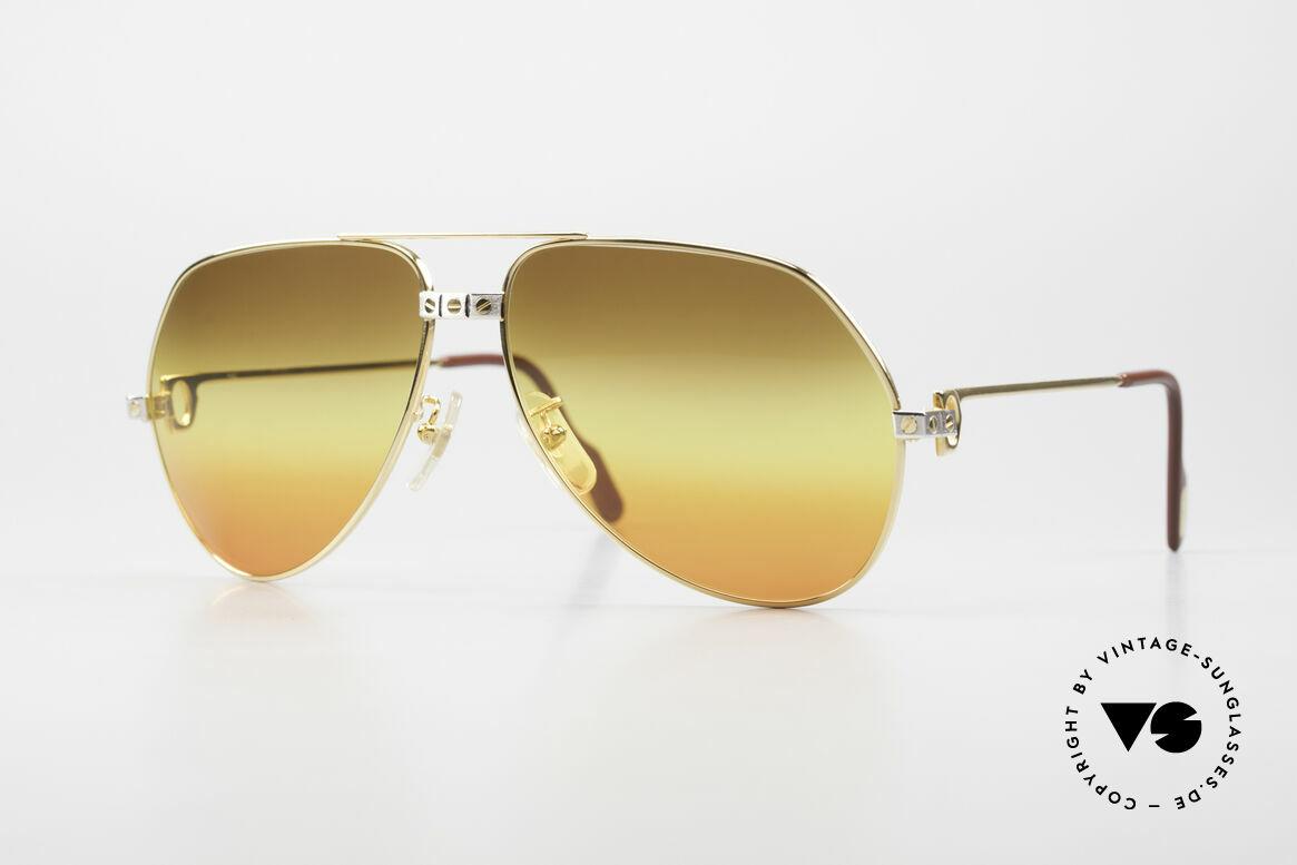 Cartier Vendome Santos - L Triple Gradient Desert Sun, legendary 1980's CARTIER Vendome Santos sunglasses, Made for Men