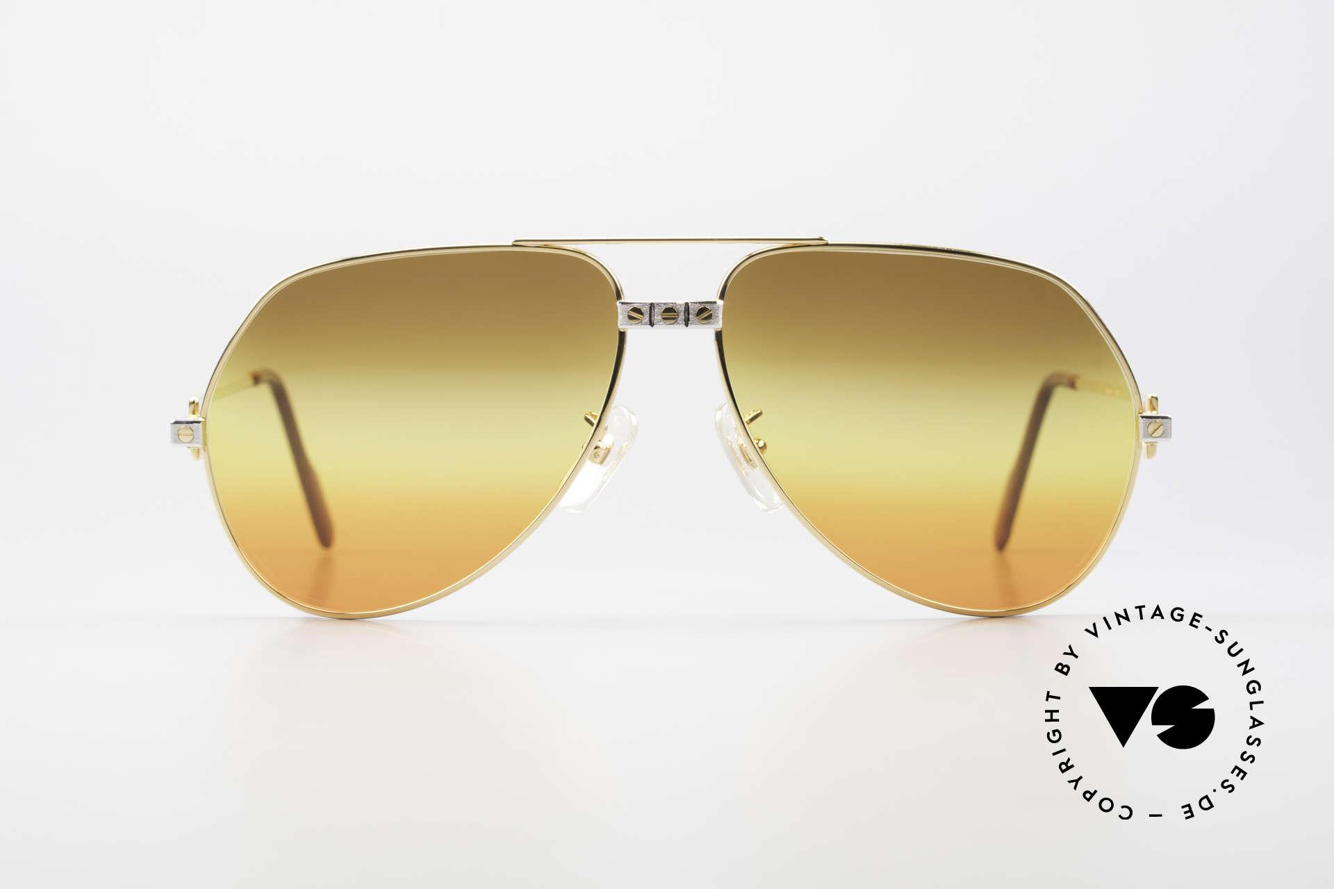 "Cartier Vendome Santos - L Triple Gradient Desert Sun, mod. ""Vendome"" was launched in 1983 & made till 1997, Made for Men"