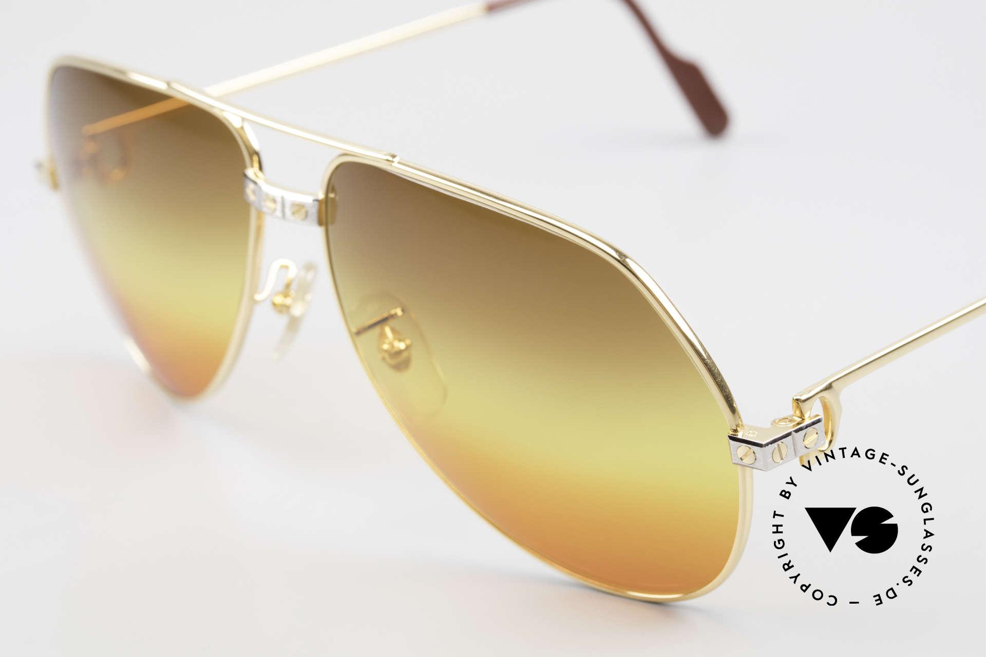 """Cartier Vendome Santos - L Triple Gradient Desert Sun, unique sun lenses, triple gradient """"desert sun"""", VERTU, Made for Men"""