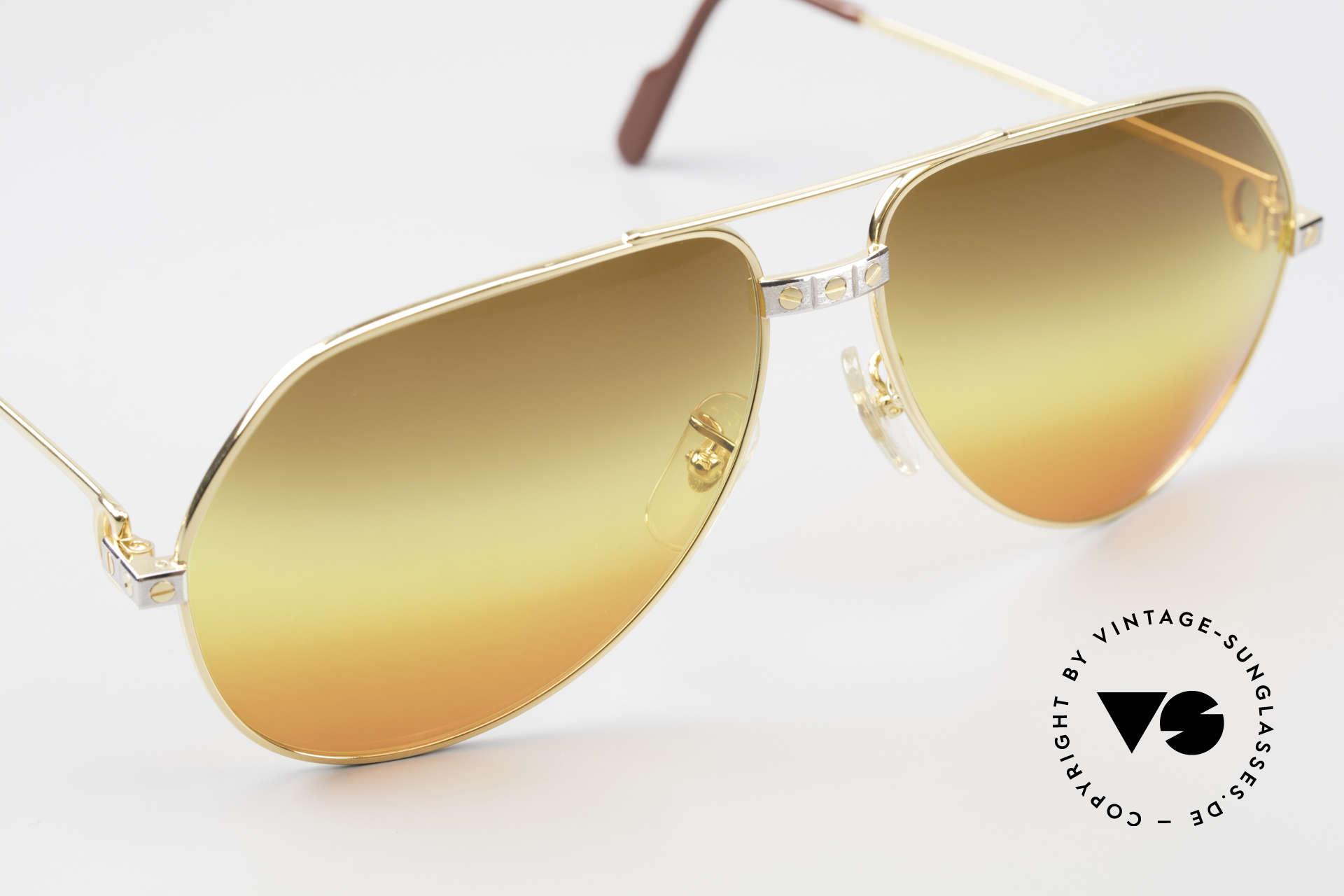 Cartier Vendome Santos - L Triple Gradient Desert Sun, CUSTOMIZED LENSES: you won't find them elsewhere!, Made for Men