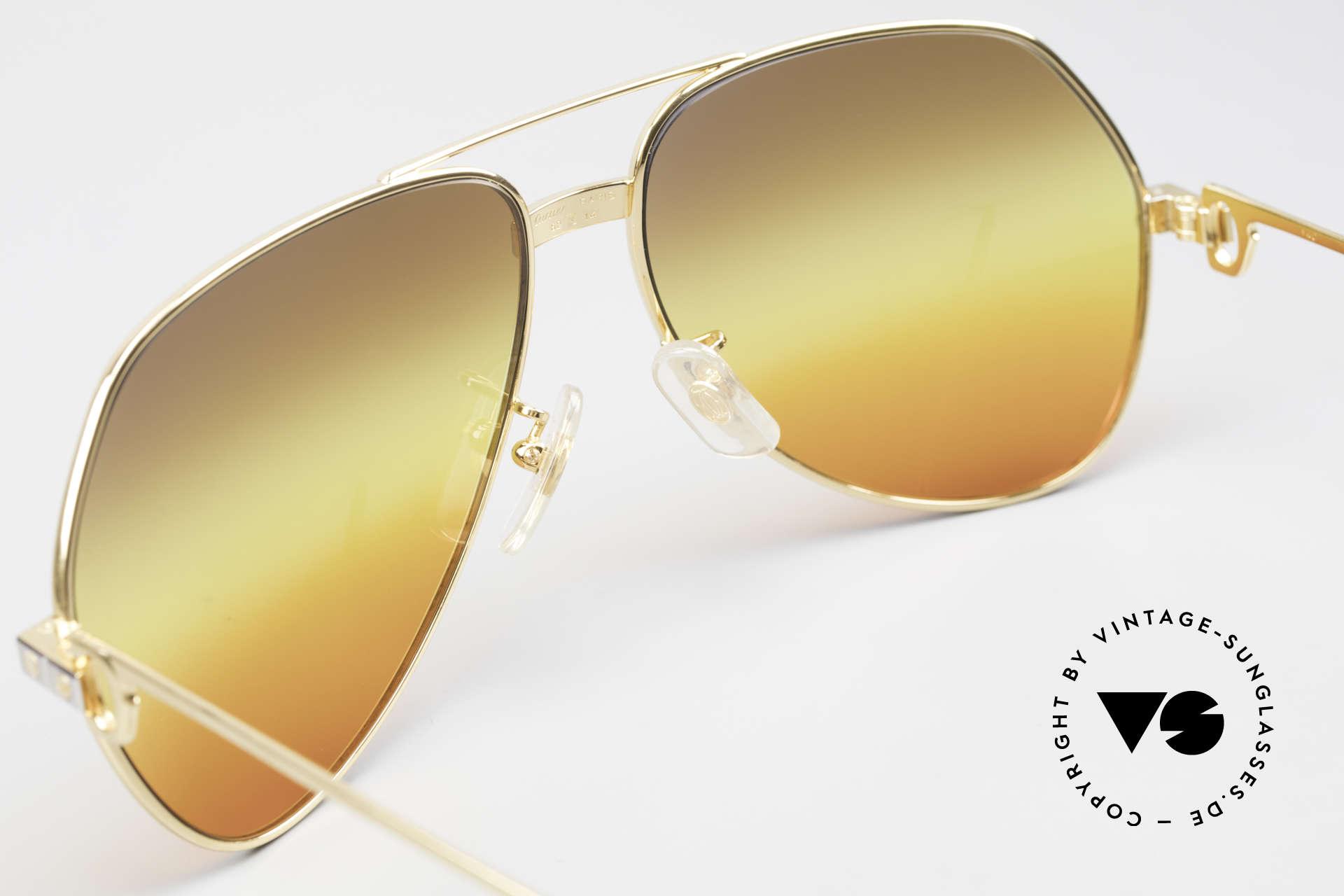 Cartier Vendome Santos - L Triple Gradient Desert Sun, unworn, new old stock (NOS), with full original packing, Made for Men