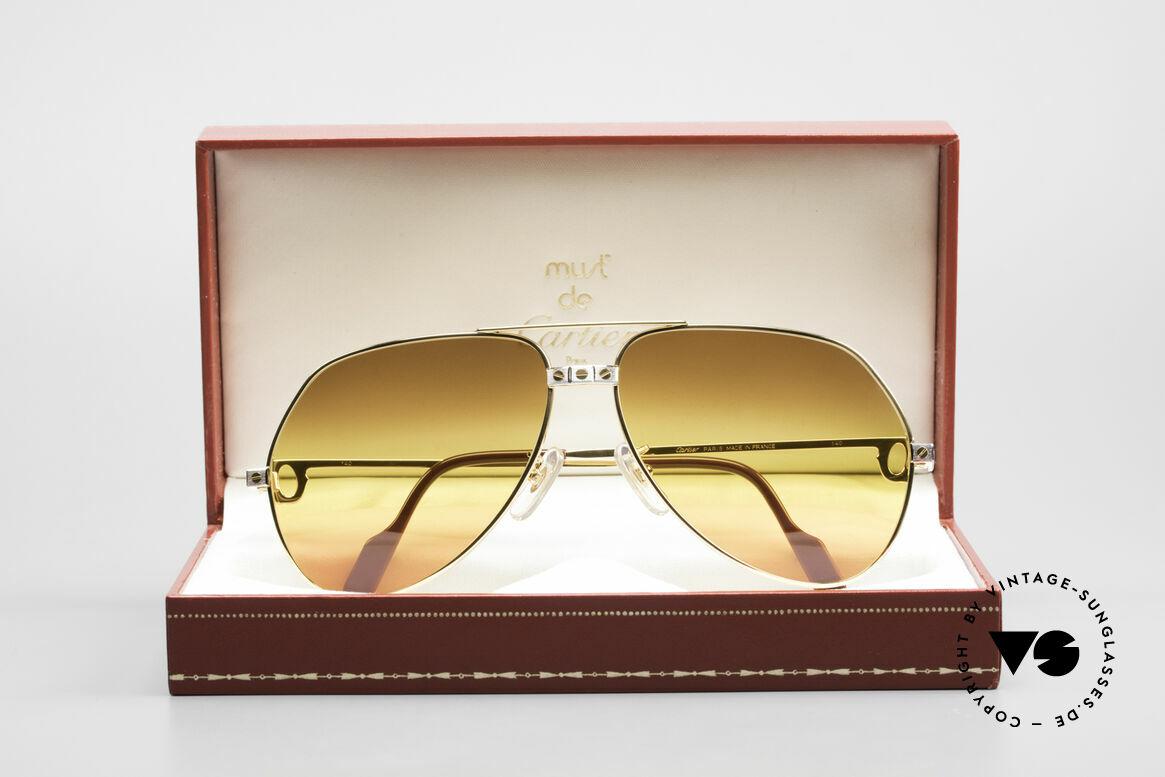 Cartier Vendome Santos - L Triple Gradient Desert Sun, NO retro sunglasses, but an authentic vintage ORIGINAL, Made for Men