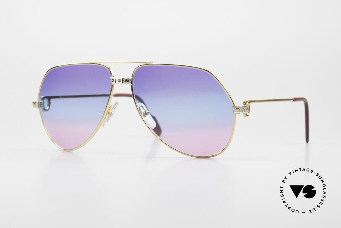 Cartier Vendome Santos - L Unique Triple Gradient Galaxy, legendary 1980's CARTIER Vendome Santos sunglasses, Made for Men