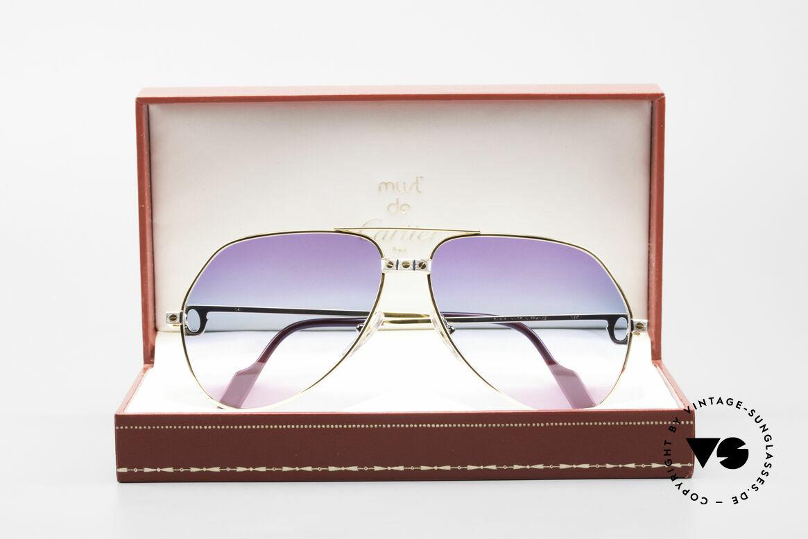 Cartier Vendome Santos - L Unique Triple Gradient Galaxy, NO retro sunglasses, but an authentic vintage ORIGINAL, Made for Men