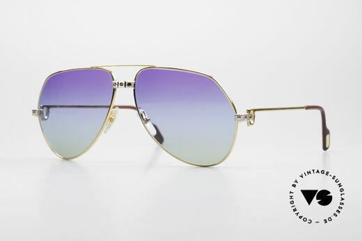 Cartier Vendome Santos - L Customized Purple Polar Lights Details