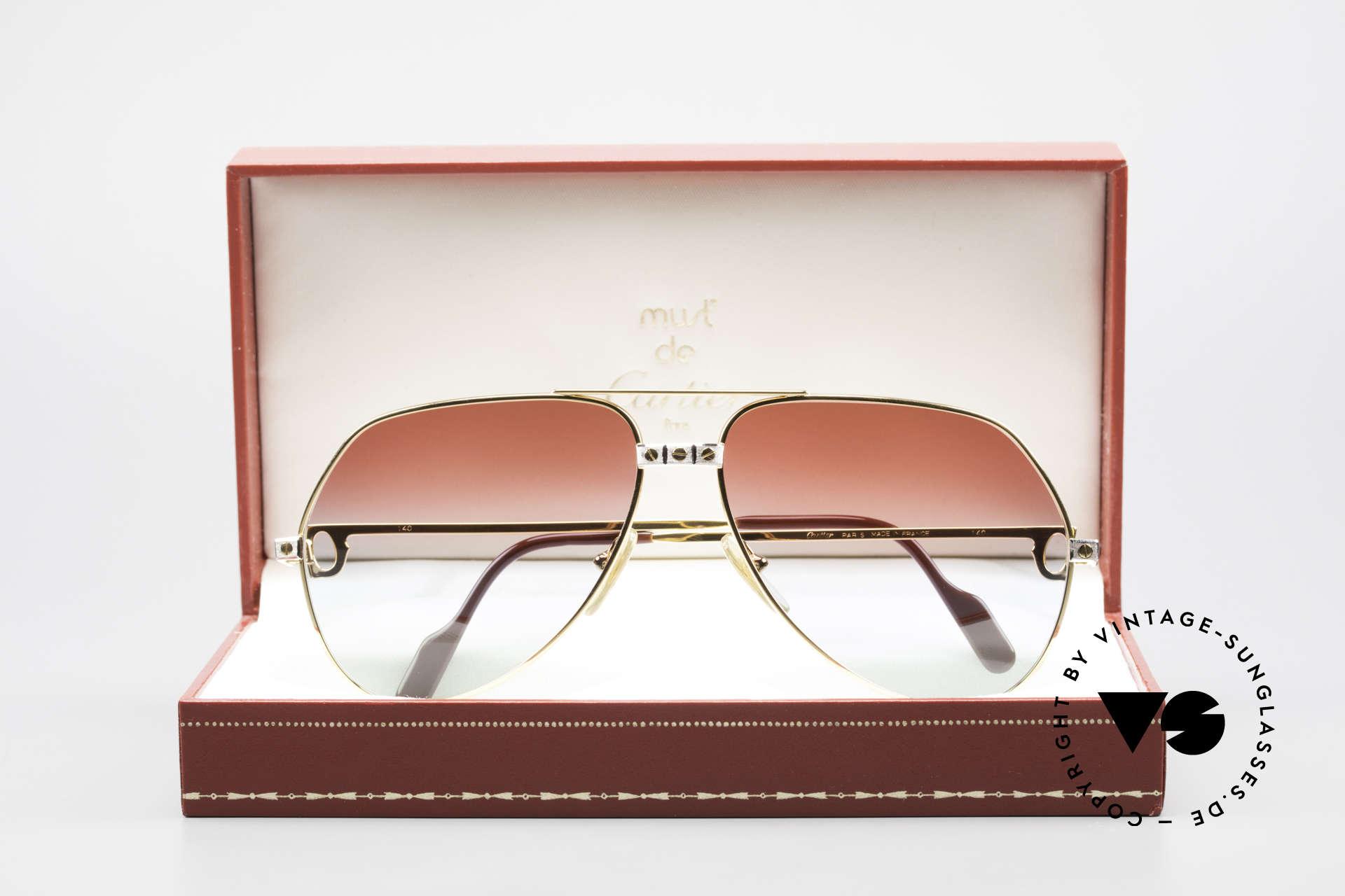 Cartier Vendome Santos - L Unique Bordeaux Polar Lights, NO RETRO sunglasses, but an authentic vintage Original, Made for Men