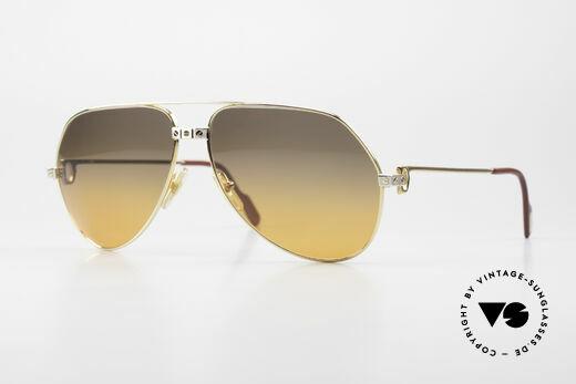 Cartier Vendome Santos - L Double Gradient Desert Storm Details