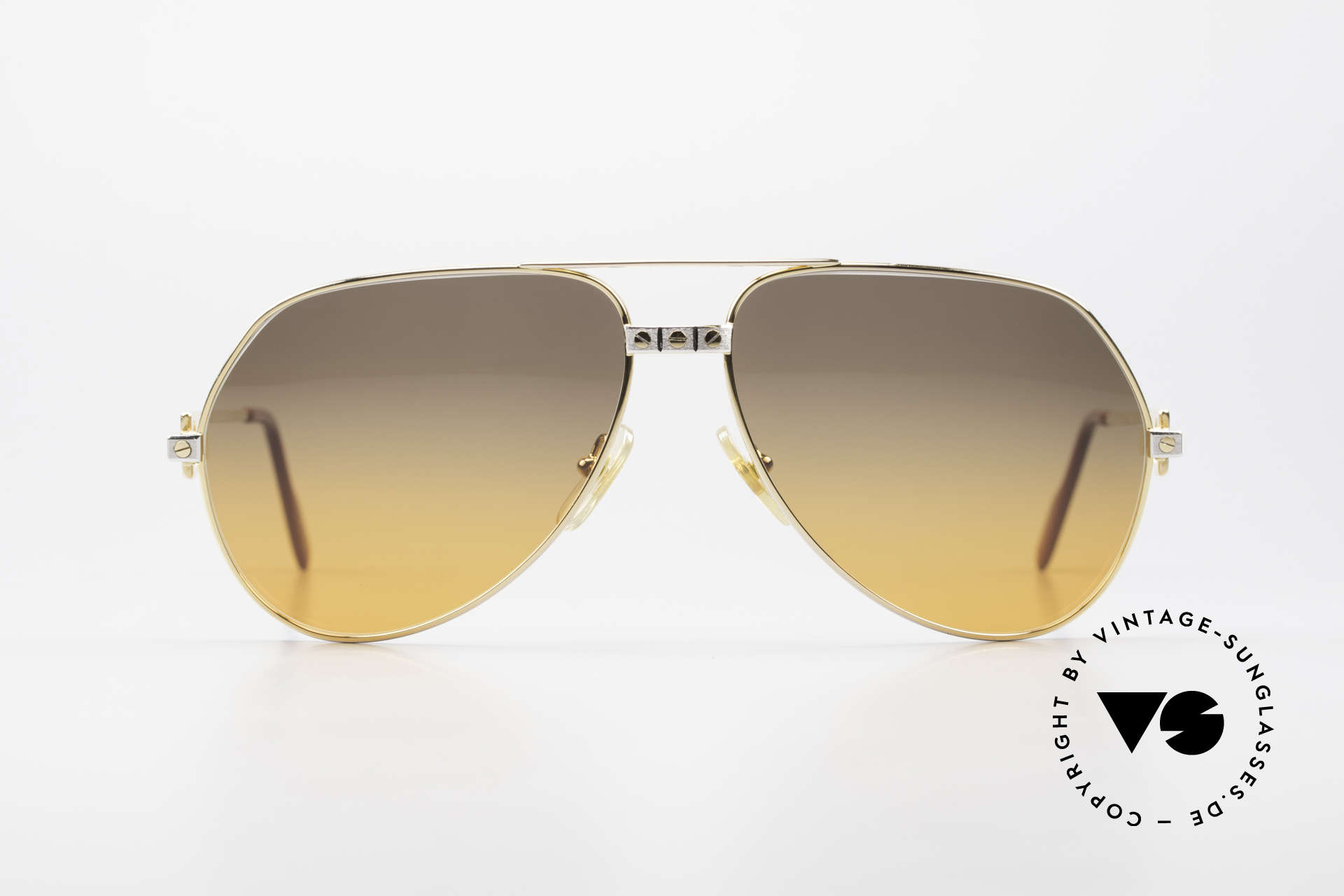 "Cartier Vendome Santos - L Double Gradient Desert Storm, mod. ""Vendome"" was launched in 1983 & made till 1997, Made for Men"