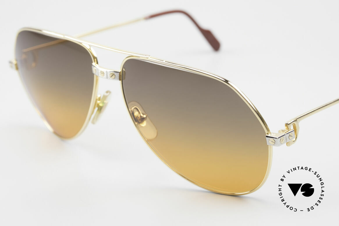 """Cartier Vendome Santos - L Double Gradient Desert Storm, with unique sun lenses, double gradient """"desert storm"""", Made for Men"""