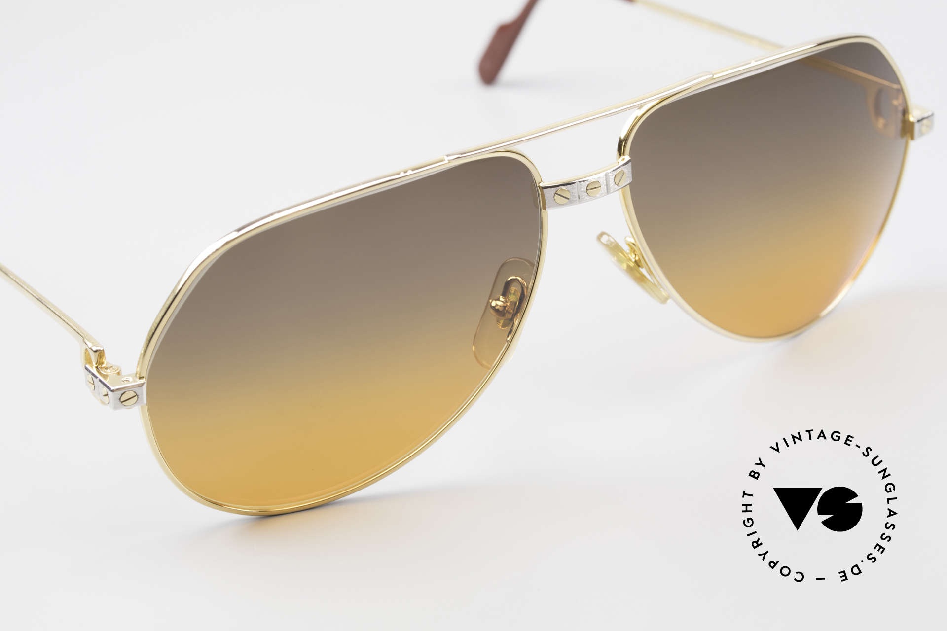 Cartier Vendome Santos - L Double Gradient Desert Storm, CUSTOMIZED LENSES: you won't find them elsewhere!, Made for Men