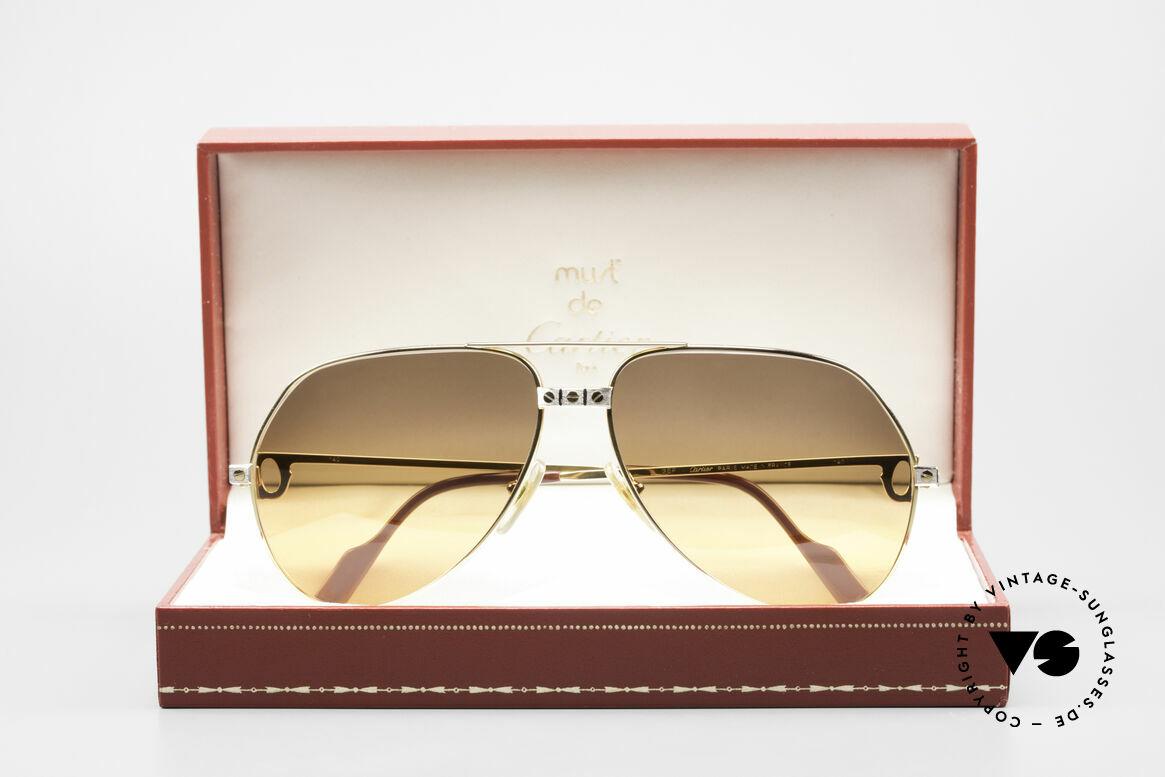 Cartier Vendome Santos - L Double Gradient Desert Storm, NO RETRO sunglasses, but an authentic vintage Original, Made for Men