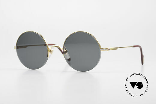 Cartier Mayfair Luxury Round Sunglasses 90's Details