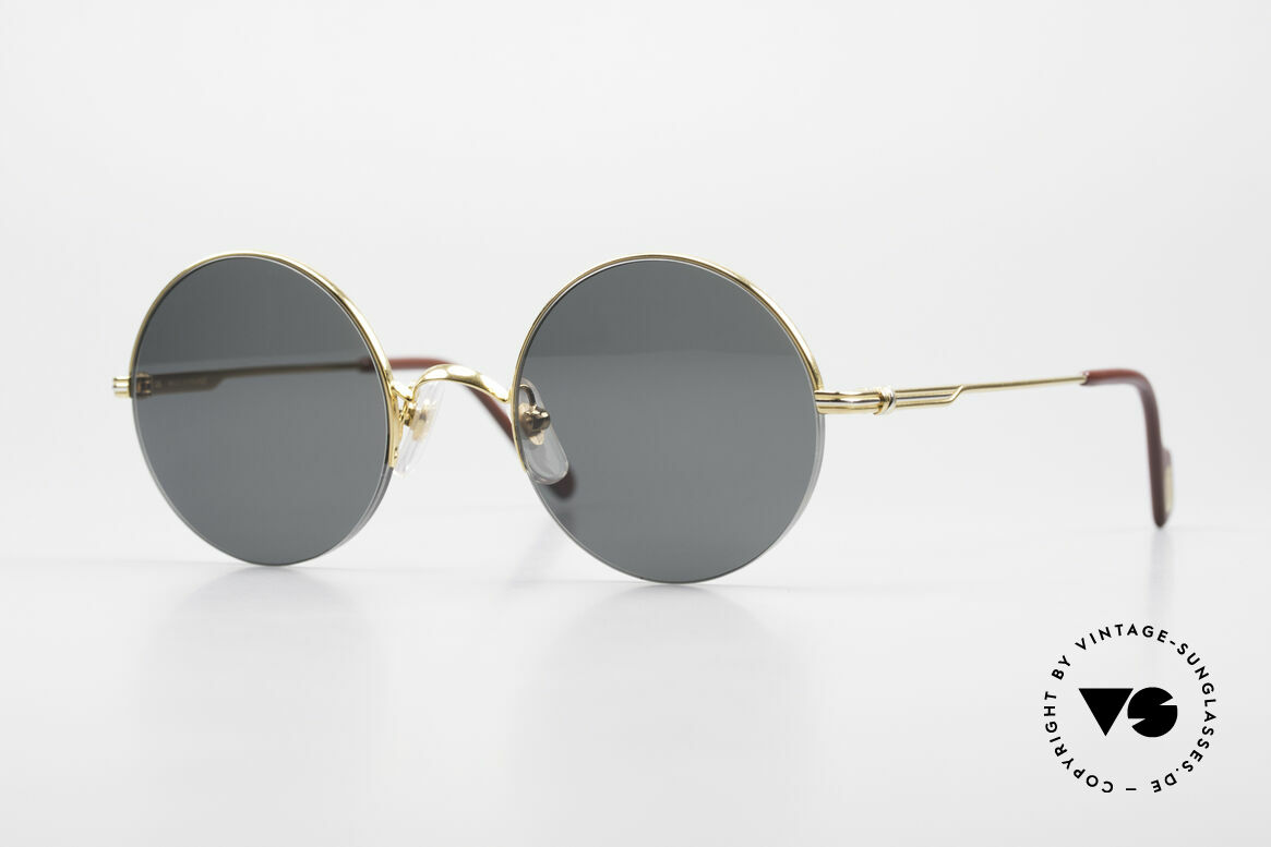Cartier Mayfair Luxury Round Sunglasses 90's, noble CARTIER designer model from the 90's, Made for Men and Women