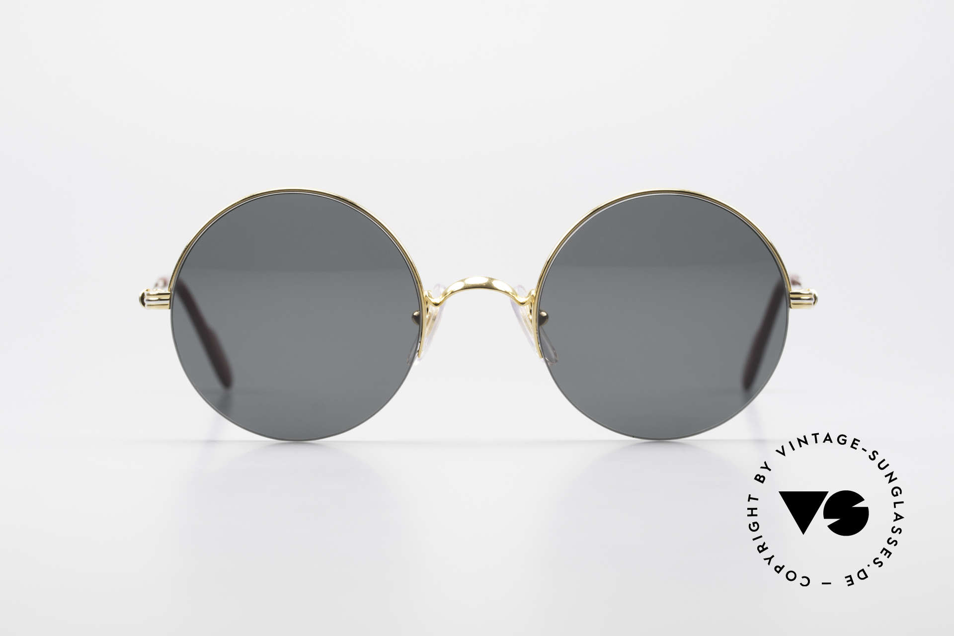 Cartier Mayfair Luxury Round Sunglasses 90's, SMALL round sunglasses in S size 45°20, 135, Made for Men and Women