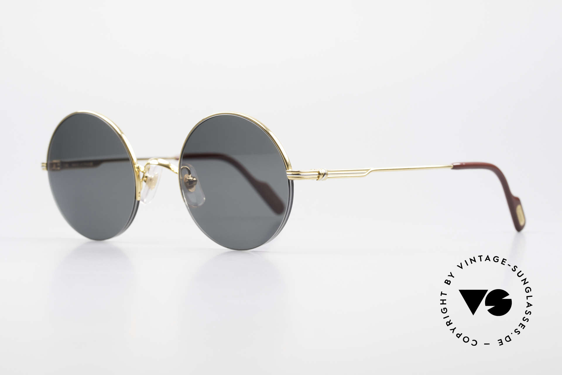 Cartier Mayfair Luxury Round Sunglasses 90's, exclusive design - simply timeless and unisex, Made for Men and Women