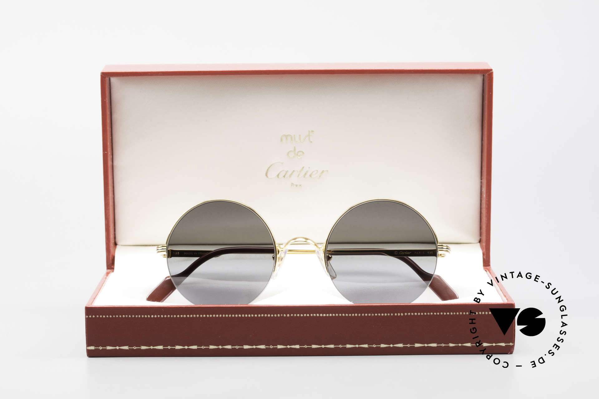 Cartier Mayfair Luxury Round Sunglasses 90's, NO retro shades, but a rare old Cartier original, Made for Men and Women