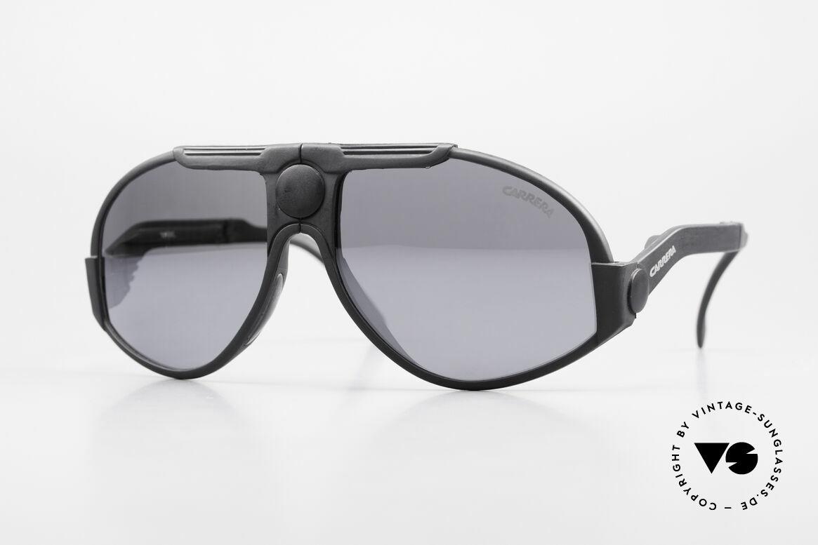 Carrera 5586 Folding Kevlar Sunglasses 90s, premium FOLDING sports sunglasses by CARRERA, Made for Men