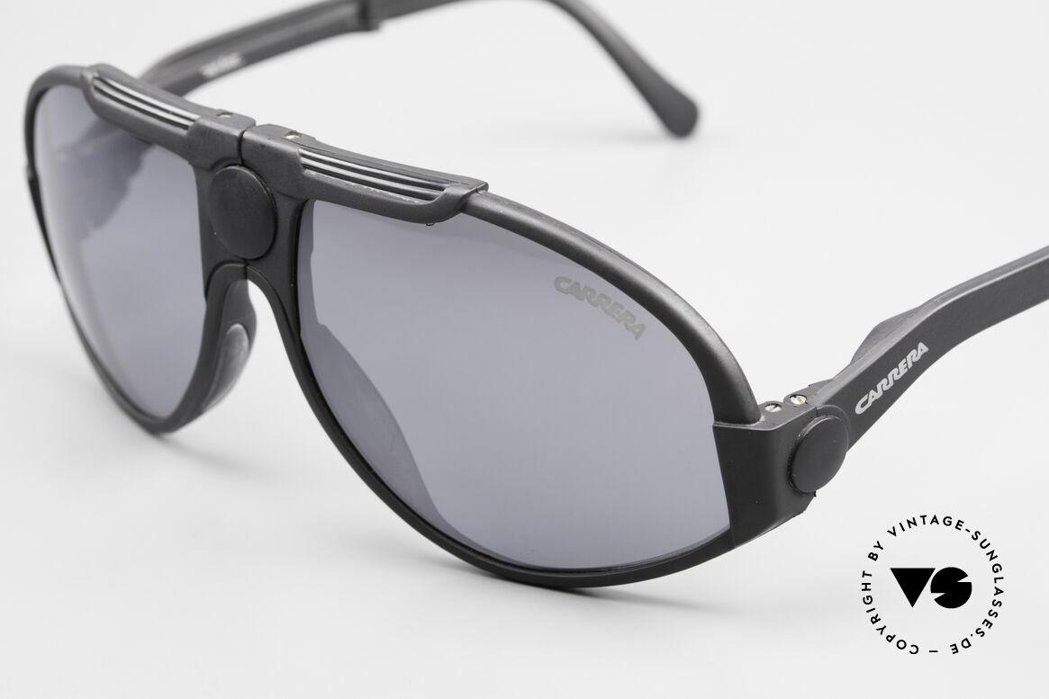 Carrera 5586 Folding Kevlar Sunglasses 90s, practical folding model & 1. class wearing comfort, Made for Men