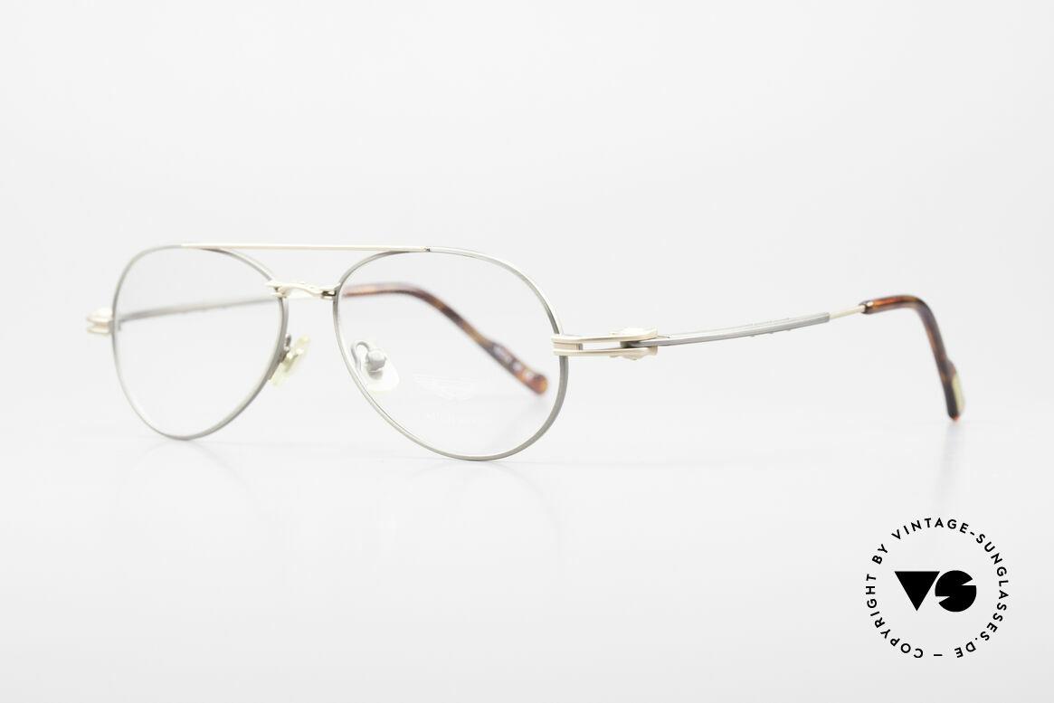Aston Martin AM49 Titanium Glasses Aviator Style, lightweight (XL) titanium frame, ergonomically shaped, Made for Men
