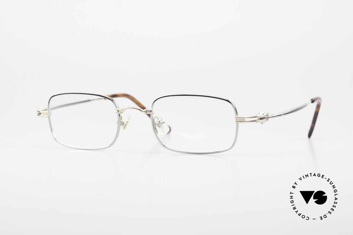 Aston Martin AM44 Square Men's Frame Titanium, square vintage luxury designer glasses by Aston Martin, Made for Men