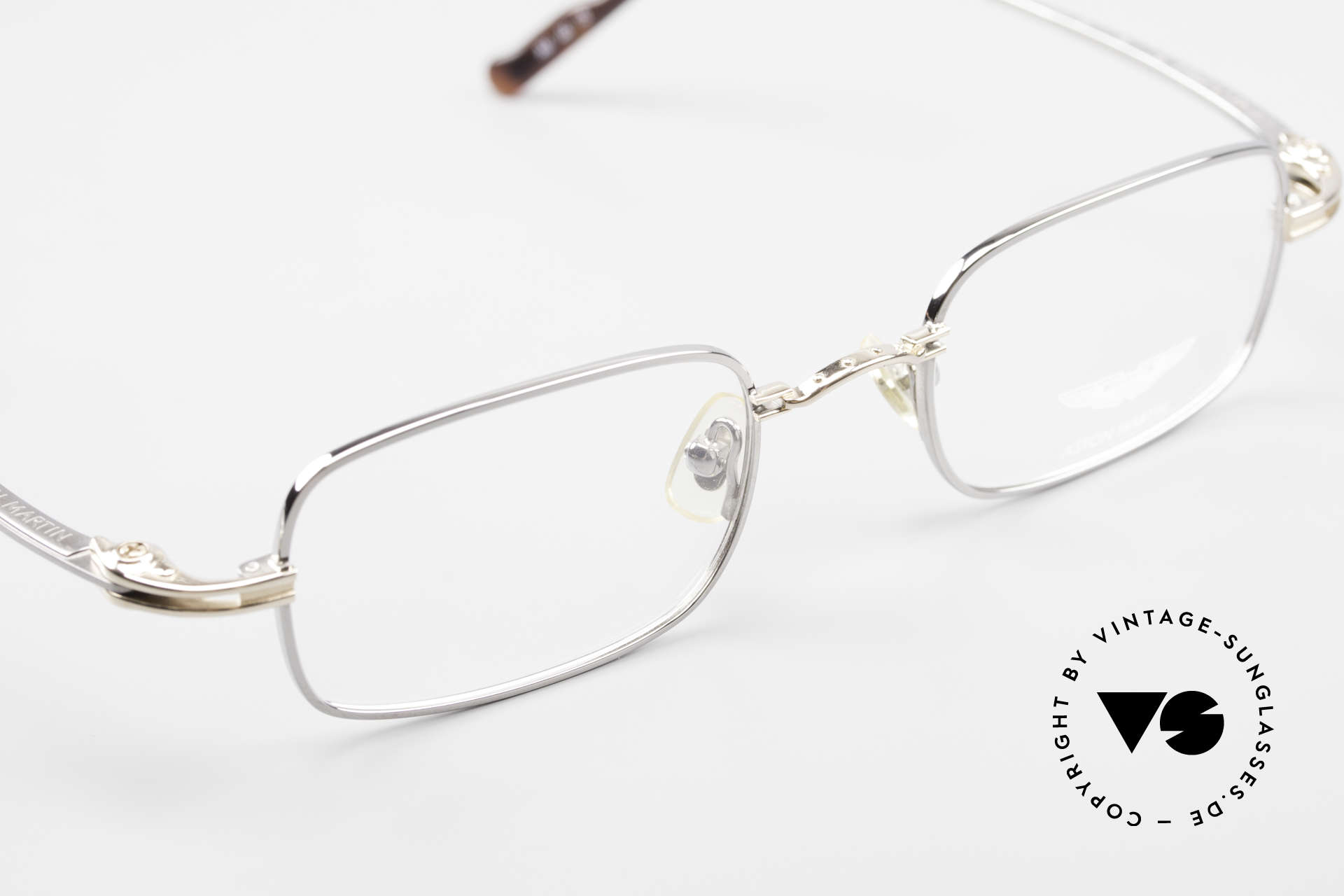 Aston Martin AM44 Square Men's Frame Titanium, NO RETRO glasses, but a real 90's original in size 49/21, Made for Men