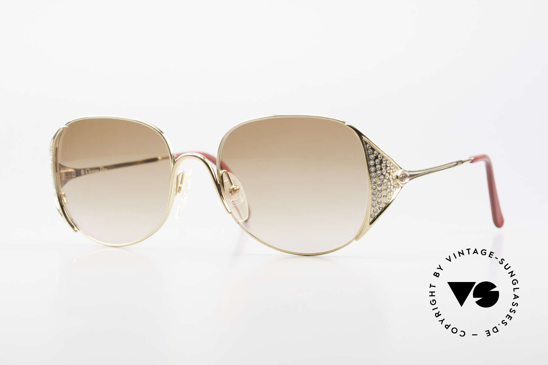 Christian Dior 2362 Ladies Sunglasses Rhinestone, luxurious frame for women from the 80's by C. Dior, Made for Women