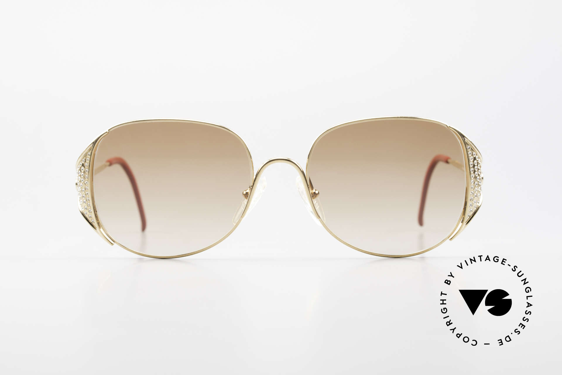 Christian Dior 2362 Ladies Sunglasses Rhinestone, GOLD-plated frame with rich rhinestones-appliqué, Made for Women