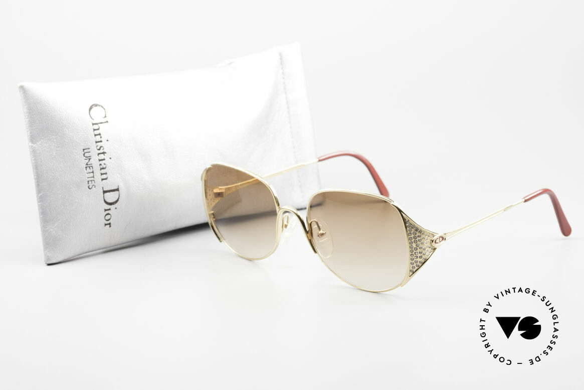 Christian Dior 2362 Ladies Sunglasses Rhinestone, Size: medium, Made for Women