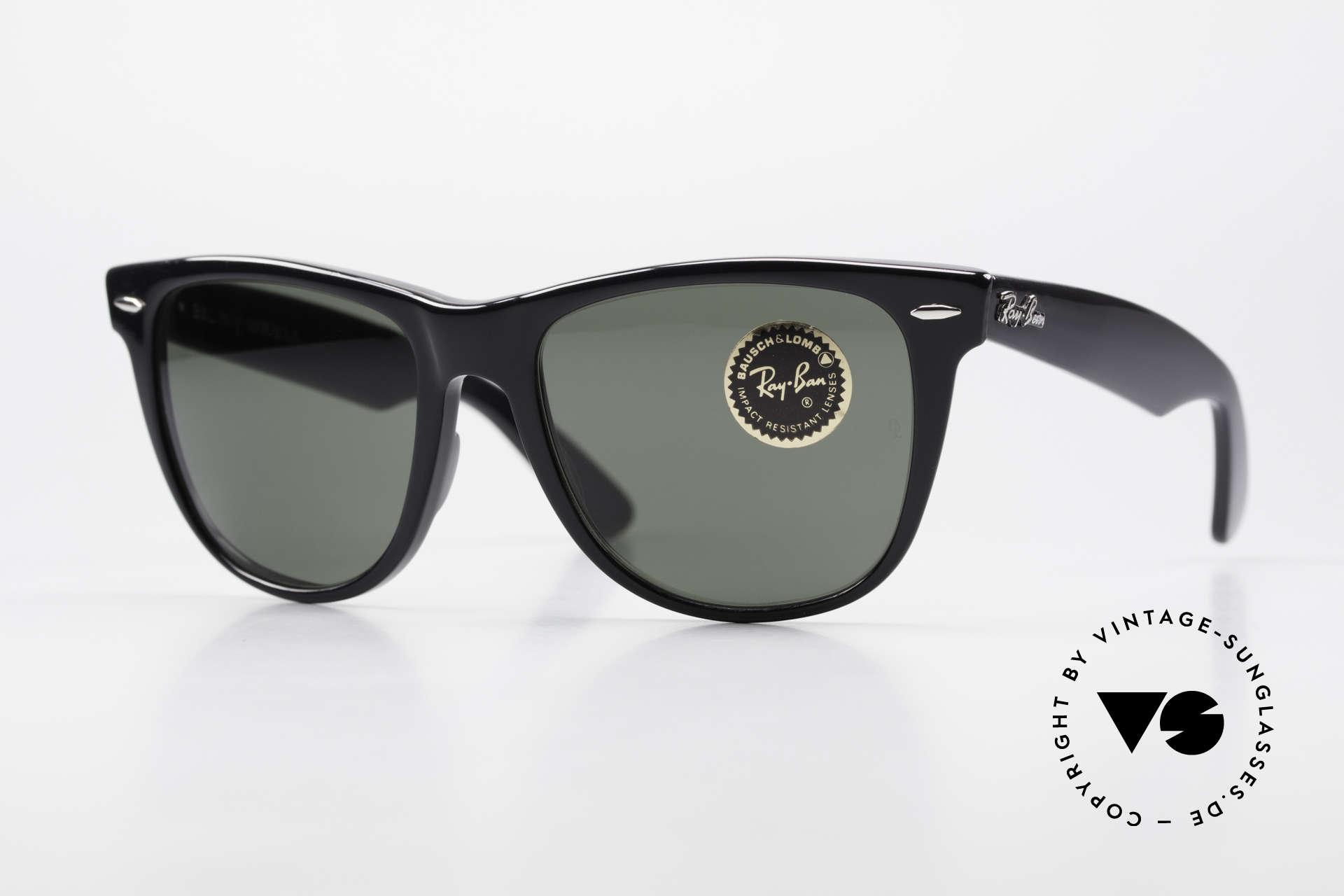 Ray Ban Wayfarer II JFK USA Vintage Sunglasses, vintage RAY-BAN Wayfarer II 1980's sunglasses, Made for Men