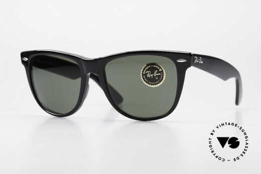 Ray Ban Wayfarer II JFK USA Vintage Sunglasses Details