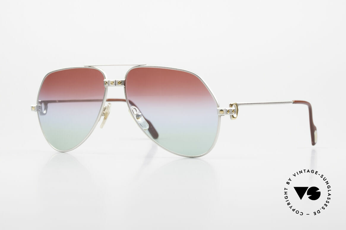 Cartier Vendome Santos - M Palladium Finish Polar Lights, vintage Cartier aviator sunglasses, Palladium Edition!, Made for Men