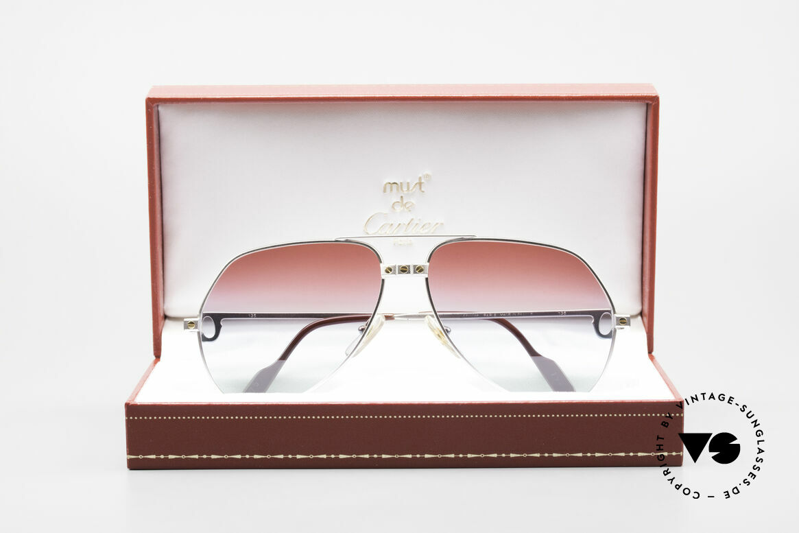 Cartier Vendome Santos - M Palladium Finish Polar Lights, NO RETRO sunglasses, but an authentic old ORIGINAL, Made for Men