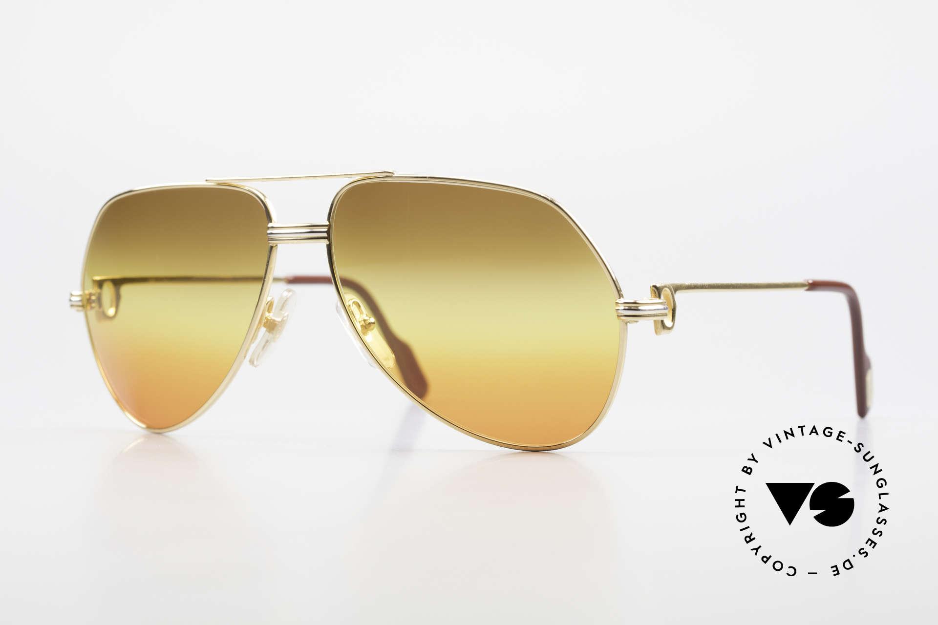 Cartier Vendome LC - M TRIPLE GRADIENT DESERT SUN, vintage CARTIER aviator sunglasses, model VENDOME, Made for Men and Women
